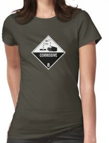 HAZMAT Class 8: Corrosive Womens Fitted T-Shirt