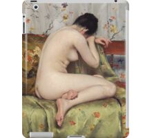 William Merritt Chase - A Modern Magdalen. Woman portrait: sensual woman, model, nude, chest, young, silk,  Magdalen, Modern, love, sexy lady, erotic pose iPad Case/Skin
