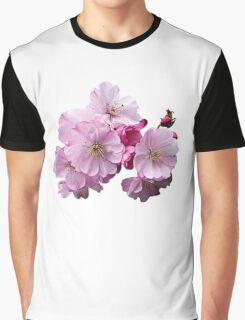 Closeup of Cherry Blossoms Graphic T-Shirt