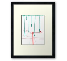 Wire Wire Telephone Framed Print