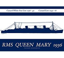 RMS Queen Mary 1936 - tony fernandes Photographic Print