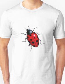 Big Ladybug, Ladybird, Bright Red Insect, Wildlife Art Unisex T-Shirt