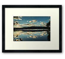 Clouds on Brisbane Water Framed Print