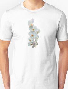 White Phalaenopsis Orchids Unisex T-Shirt