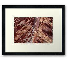 Rusty roof, Hill End. Framed Print