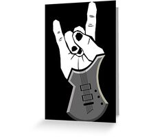 Sign of the Horns Greeting Card