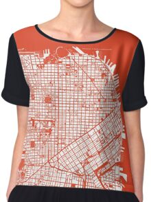 San Francisco map classic Chiffon Top