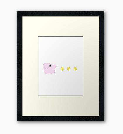 Pac-Pig Framed Print