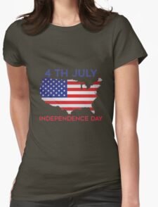 4 TH JULY INDEPENDENCE DAY Womens Fitted T-Shirt