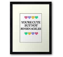 Cute but not Jensen Ackles - liferuiner 04 Framed Print