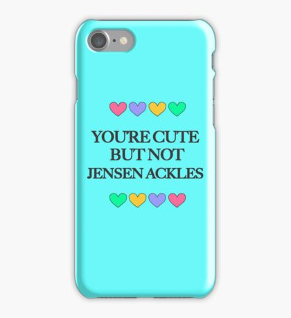 Cute but not Jensen Ackles - liferuiner 04 iPhone Case/Skin
