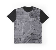 Madrid city map engraving Graphic T-Shirt