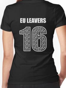 EU Leavers 16 Women's Fitted V-Neck T-Shirt