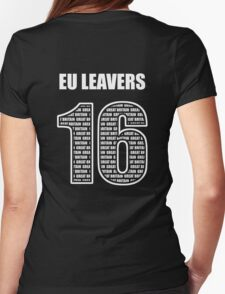 EU Leavers 16 Womens Fitted T-Shirt