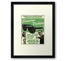 Cleavage Peekers Framed Print