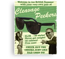 Cleavage Peekers Canvas Print