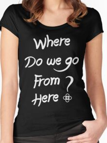 ALESSO QUOTE : I WANNA KNOW Women's Fitted Scoop T-Shirt