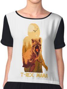 T-rex Mama Chiffon Top