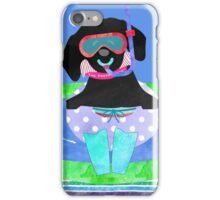 Whimsical Preppy Black Lab Summer Fun iPhone Case/Skin