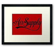 air supply Framed Print