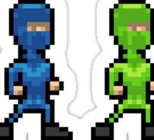 Pixel Art Multi-Coloured Sprite People Sticker