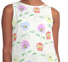 Watercolor effect prints Contrast Tank