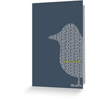 Bird is the Word Greeting Card