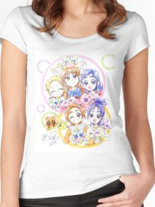 Precure Splash Star Women's Fitted Scoop T-Shirt