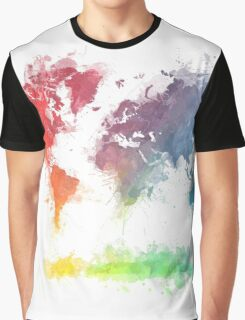 World Map splash 3 Graphic T-Shirt