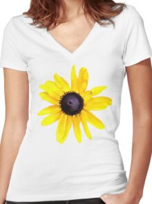 Daisy Brings Sunshine into your life Women's Fitted V-Neck T-Shirt