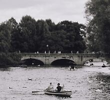 Row Boats in Stratford-upon-Avon by Indea Vanmerllin