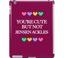 Cute but not Jensen Ackles - liferuiner 05 iPad Case/Skin