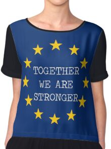 Together we are Stronger Chiffon Top