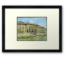 William Merritt Chase - Florence 1907. Urban landscape: city view, streets, building, house, Florence, cityscape, architecture, construction, travel , panorama, buildings Framed Print