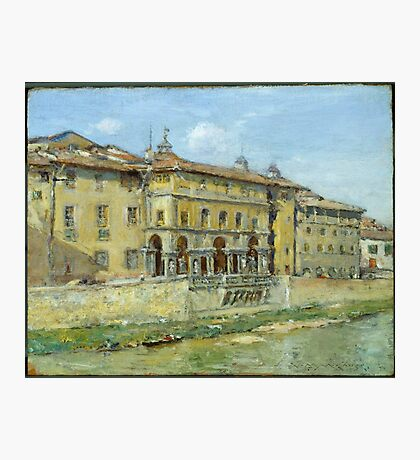 William Merritt Chase - Florence 1907. Urban landscape: city view, streets, building, house, Florence, cityscape, architecture, construction, travel , panorama, buildings Photographic Print