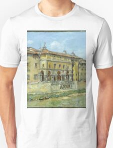 William Merritt Chase - Florence 1907. Urban landscape: city view, streets, building, house, Florence, cityscape, architecture, construction, travel , panorama, buildings Unisex T-Shirt