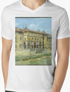 William Merritt Chase - Florence 1907. Urban landscape: city view, streets, building, house, Florence, cityscape, architecture, construction, travel , panorama, buildings Mens V-Neck T-Shirt