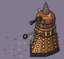 Birthday Dalek - Pixel Art Kids Tee