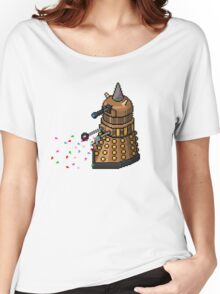 Birthday Dalek - Pixel Art Women's Relaxed Fit T-Shirt