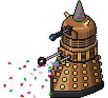 Birthday Dalek - Pixel Art Photographic Print