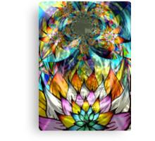 Flower Fractal Life Canvas Print