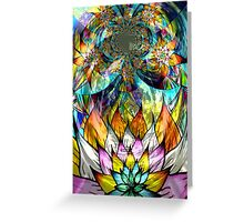 Flower Fractal Life Greeting Card