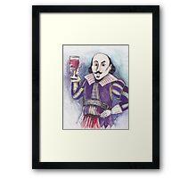 Wining Shakespeare Framed Print