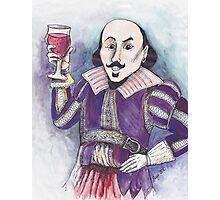 Wining Shakespeare Photographic Print