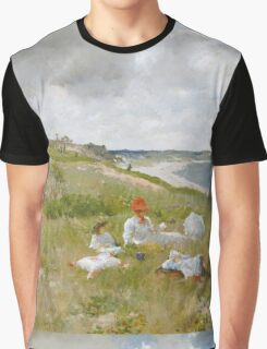 William Merritt Chase - Idle Hours. Picnic painting: picnic time, woman, holiday, people, family, travel, garden, relaxation, rest, game, picnic Graphic T-Shirt