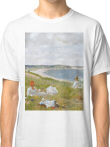 William Merritt Chase - Idle Hours. Picnic painting: picnic time, woman, holiday, people, family, travel, garden, relaxation, rest, game, picnic Classic T-Shirt