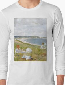 William Merritt Chase - Idle Hours. Picnic painting: picnic time, woman, holiday, people, family, travel, garden, relaxation, rest, game, picnic Long Sleeve T-Shirt