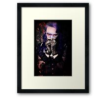 Scared Vamp Framed Print