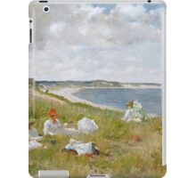 William Merritt Chase - Idle Hours. Picnic painting: picnic time, woman, holiday, people, family, travel, garden, relaxation, rest, game, picnic iPad Case/Skin