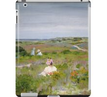 William Merritt Chase - Landscape Shinnecock, Long Island. Picnic painting: picnic time, woman, holiday, people, family, travel, garden, relaxation, rest, game, picnic iPad Case/Skin